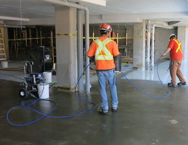Kelmar application, Glebe Parking Garage - Concrete Polishing & Sealing Ltd.