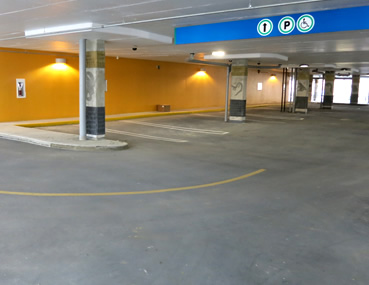 Glebe Parking Garage, Ottawa with Kelmar application - Concrete Polishing & Sealing Ltd.
