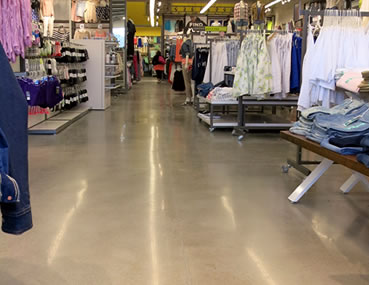 Concrete floor decorative polishing at Old Navy by Concrete Polishing and Sealing Ottawa