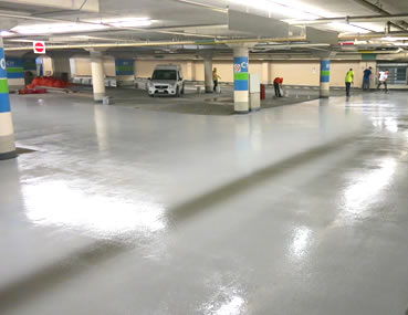 Ottawa City Hall Parking Traffic Deck Topping by Concrete Polishing & Sealing